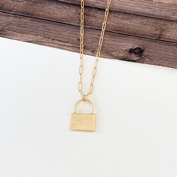 Baubles & Bits Boutique :: Hallie Lock Necklace - Gold