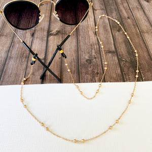Glasses Chain :: Peyton Gold Satellite Link Chain