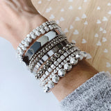 Boutique Bracelet Collection :: Collins Matte Silver Stacked Ball Bracelets