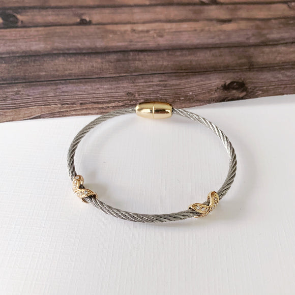 Cable Bracelet Collection :: Ava Silver