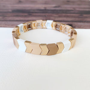 Boutique Bracelet Collection :: Josie Neutral Chevron