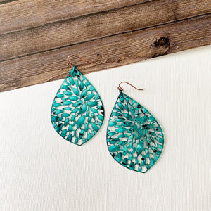 Baubles & Bits Boutique :: Aleena Patina Filigree Oversized Teardrops