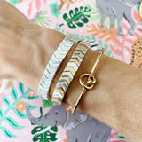 Boutique Bracelet Collection :: Ashley Mixed Metals Chevron