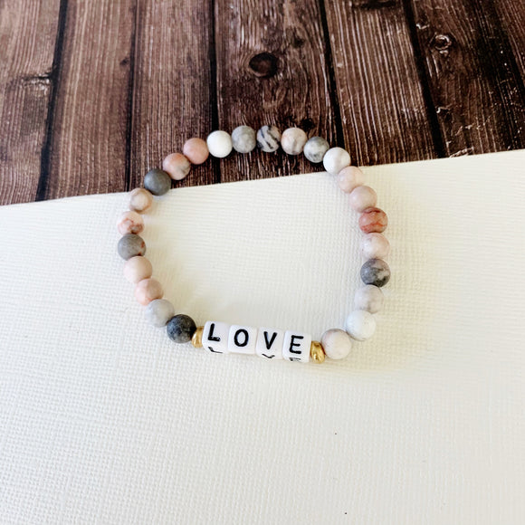Boutique Bracelet Collection :: Jessica Love Natural Stone - Rose Quartz