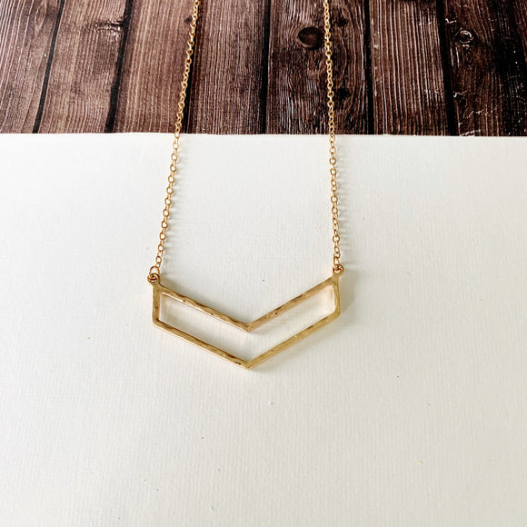 Baubles & Bits Boutique :: Jillian Chevron Necklace - Gold