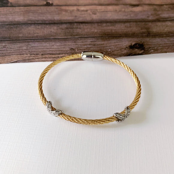 Cable Bracelet Collection :: Ava Gold
