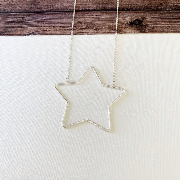 Baubles & Bits Boutique :: Hallie Silver Star Short Necklace