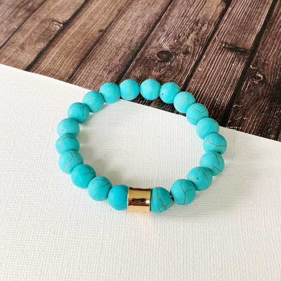 Boutique Bracelet Collection :: Ella Natural Stone - Turquoise