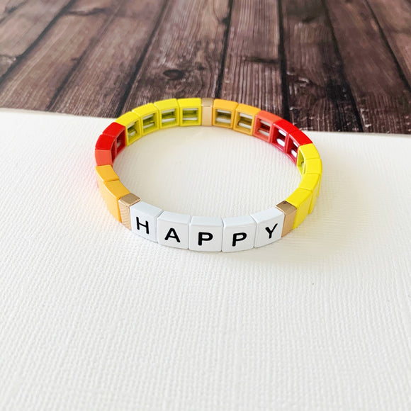 Boutique Bracelet Collection :: Happy Sunny Tile Bracelet