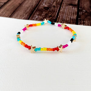 Boutique Bracelet Collection ::  Romani Multi Star Stretch Bracelet Trio