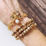 Boutique Bracelet Collection :: Isabella Linked Bee Charm