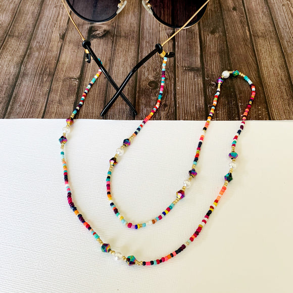 Glasses Chain :: Penelope Multi-Hued Beaded Chain