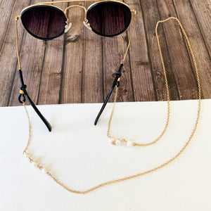 Glasses Chain :: Marlee Pearl Accent Link Chain