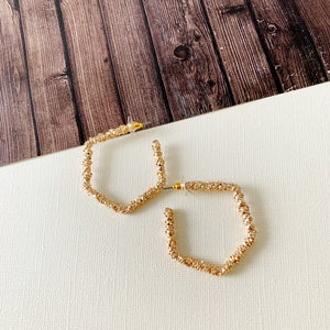 Hoopla Hoop Earring Collection :: Elena Gold Geometric Hoop Earrings