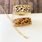 Boutique Bracelet Collection :: Jenna White Leopard Cuff