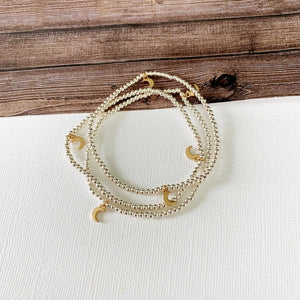 Boutique Bracelet Collection :: Azalea Silver Moon Petite Ball Bracelets