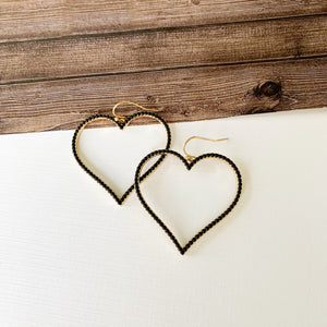 Baubles & Bits Boutique :: Black Open Heart Drops