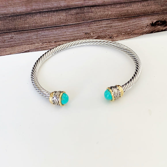 Cable Bracelet Collection :: Lianna Turquoise