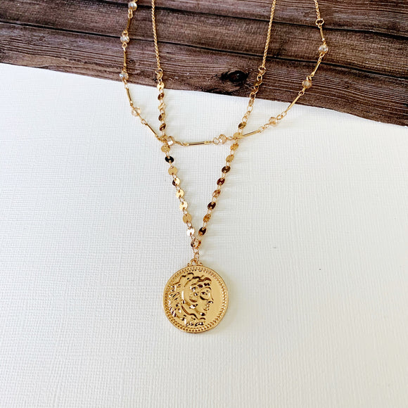 Baubles & Bits Boutique :: Jess Coin Layered Necklace - Gold