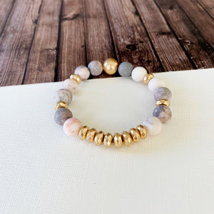 Boutique Bracelet Collection :: Cecelia Natural Stone - Rose Quartz
