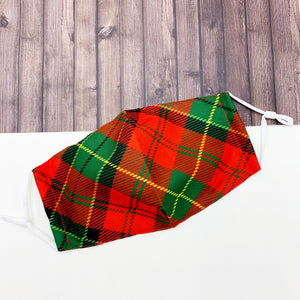 Reusable Face Mask :: Holiday Plaid