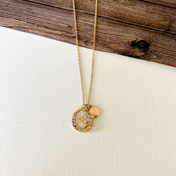 Baubles & Bits Boutique :: Cora Moon and Stars Necklace - Gold