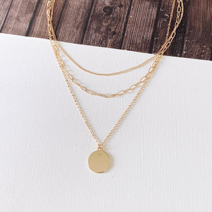 Baubles & Bits Boutique :: Matilda Layered Necklace - Gold