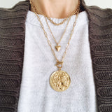 Baubles & Bits Boutique :: Kenley Coin Toggle Necklace - Gold