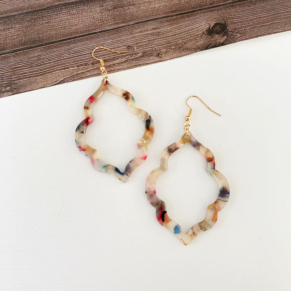 Baubles & Bits Boutique :: Maia Watercolor Lucite Open Drops