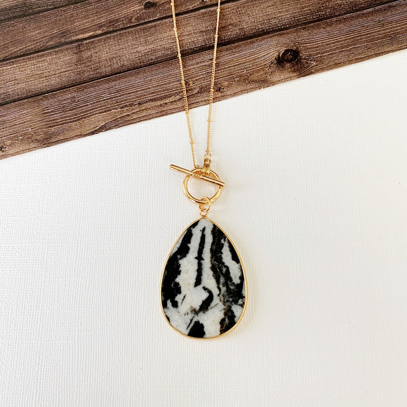 Baubles & Bits Boutique Collection :: Zebra Quartz Teardrop