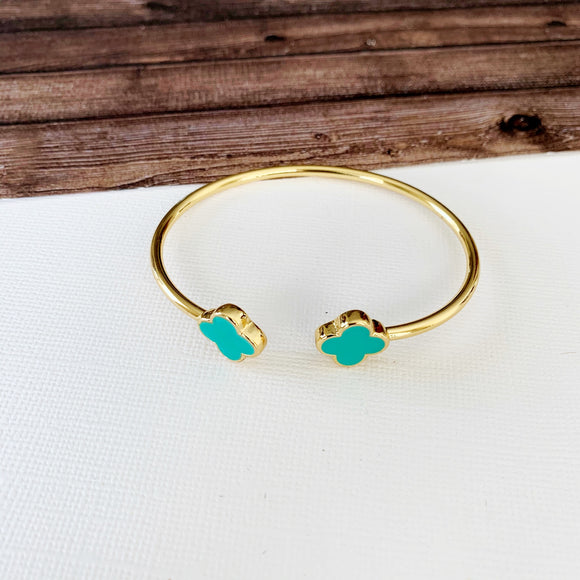Cable Bracelet Collection :: Clover Turquoise