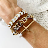 Cable Bracelet Collection :: Alia Mixed Metals Link