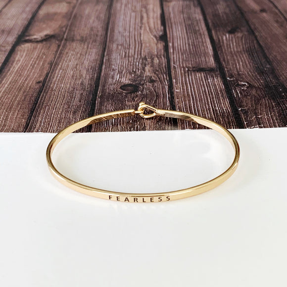 Boutique Bracelet Collection :: Eloise Fearless Skinny Gold Cuff