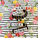 Boutique Bracelet Collection :: Mama Tile Bracelet Pink
