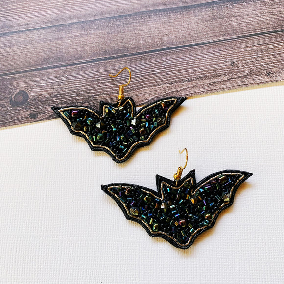 Halloween Party Earring Collection :: Beaded Bats