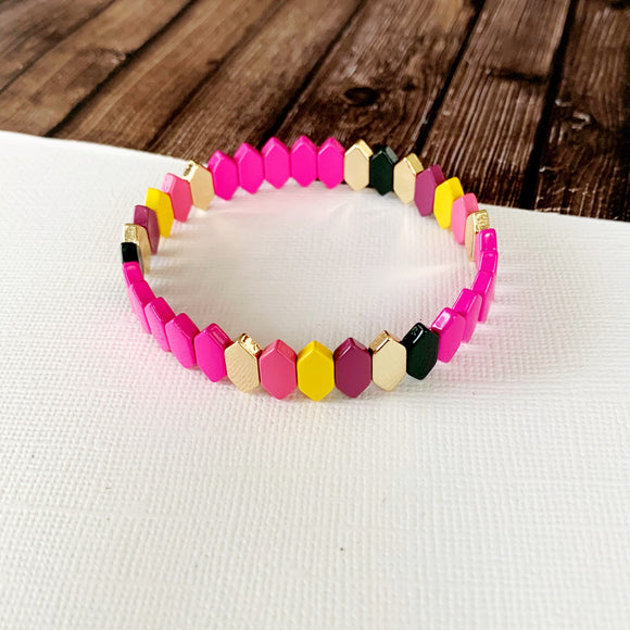 Boutique Bracelet Collection :: Raelynn Pink Mix Marquee Tile Bracelet