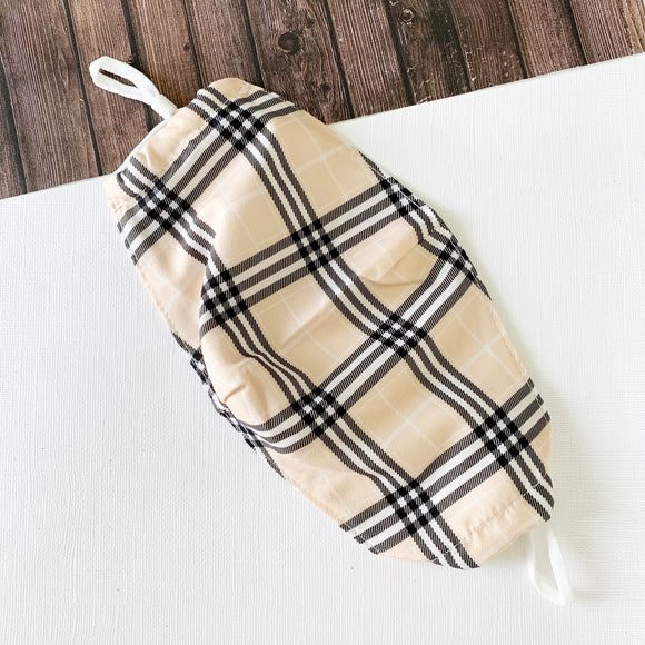 Reusable Face Mask :: Classic Tan Plaid