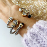Cable Bracelet Collection :: Callie Onyx