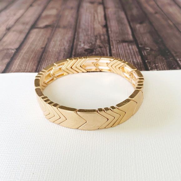Boutique Bracelet Collection :: Lucy Gold Chevron Tile Bracelet