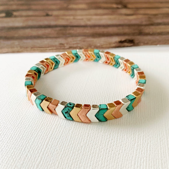 Boutique Bracelet Collection :: Ashley Patina Chevron