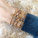 Cable Bracelet Collection :: Molly Love Knot Silver