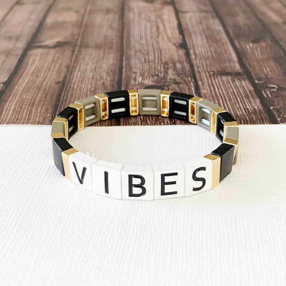 Boutique Bracelet Collection :: Vibes Tile Bracelet Multi