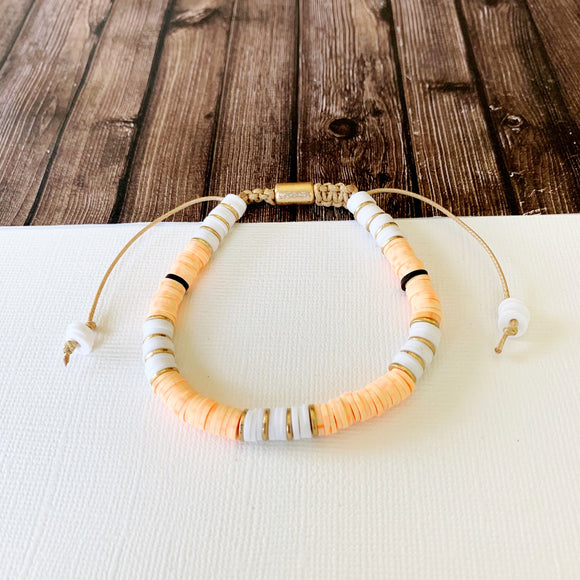 Beach Bracelet Collection :: Delilah Peach Multi-Hued Slider Bracelet