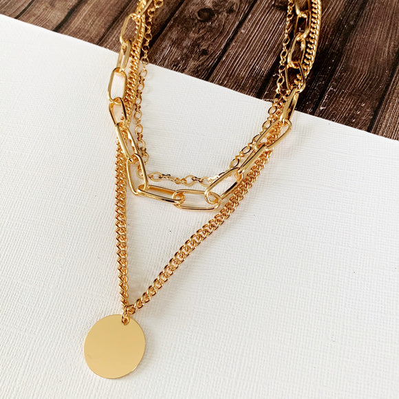 Baubles & Bits Boutique :: Maria Layered Necklace - Gold