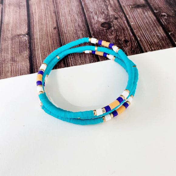 Beach Bracelet Collection :: Zaliva Turquoise Stacking Bracelets