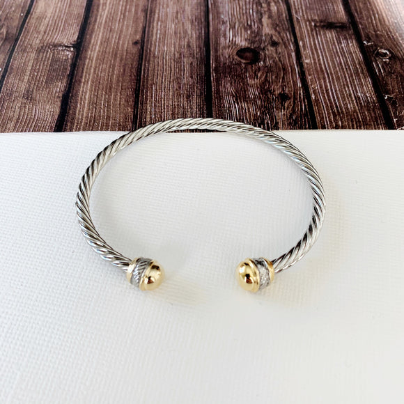 Cable Bracelet Collection :: Bella Mixed Metals