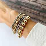 Boutique Bracelet Collection :: Nora Polished Mixed Gold & Silver Ball Bracelets