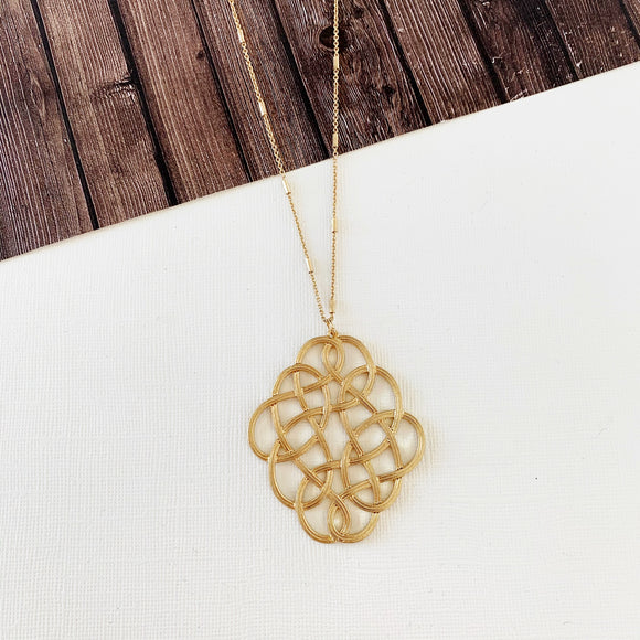 Spring Fever Necklace Collection :: Megan Gold Scroll Filigree Pendant