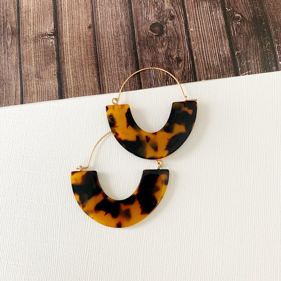 Baubles & Bits Boutique :: Kaelyn Tort Half Moon Lucite Hoops