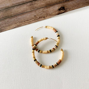 Baubles & Bits Boutique :: Annika Neutral Beaded Hoops